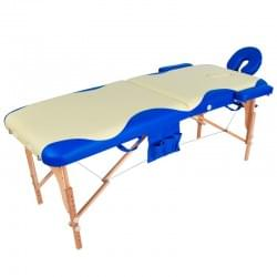 Массажный стол складной деревянный JF-AY01 2-х секционный с волной (МСТ-003Л)